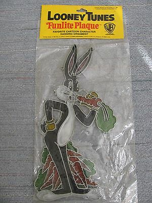 "VTG 1980 Looney Tunes BUGS BUNNY Funlite Plaque Hanging MINT 11"" Tall 5"" Wide"