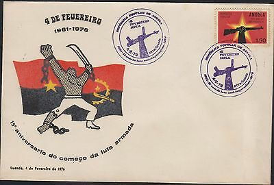 E) 1976 Angola, 1975 Year Of Independence, Flags, Arms, Fdc
