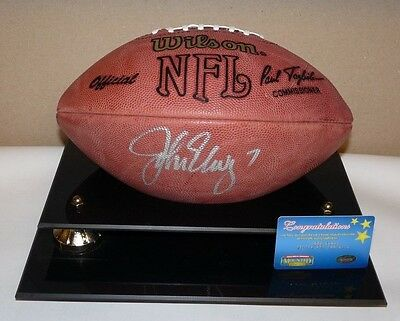 JOHN ELWAY AUTOGRAPHED SIGNED FOOTBALL NFL AFC NFC NFC AFC tagliabue BALL CASE