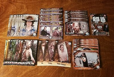 (48-card) 2017 Topps Walking Dead Season 6 Insert card LOT All Different Grimes!