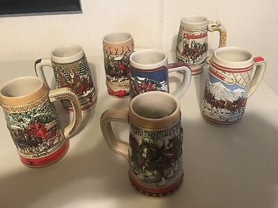 Assorted Budweiser Clydesdale Beer Steins mugs