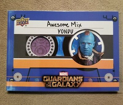Yondu 2017 UD Guardians of the Galaxy Vol. 2 SP 2-Color Movie Memorabilia Relic!