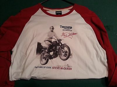 TRIUMPH STEVE McQUEEN - VINTAGE - Long Sleeve T-shirt Size Large Limited Edition