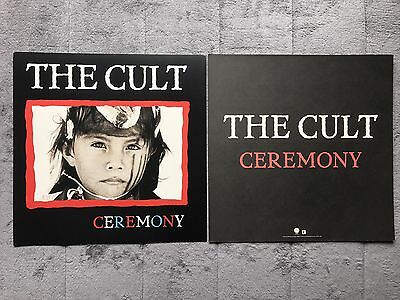 The Cult Ceremony RARE promo 12 x 12 poster flat '91
