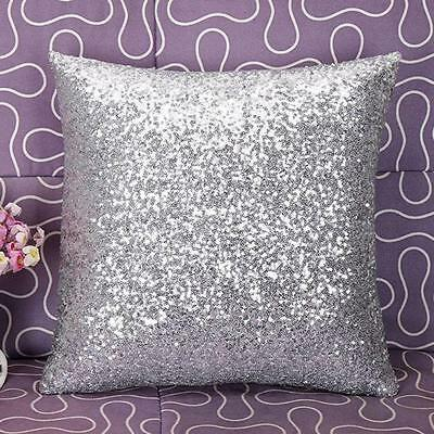 Earnest Bling Sequins Pillow Case Soft Sofa Throw Cushion Cover Home Decor