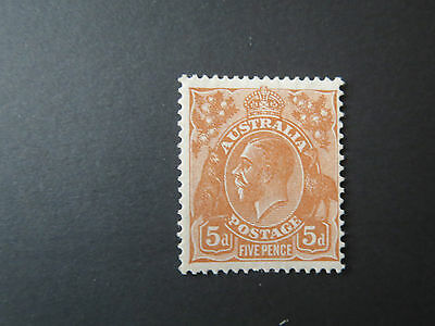 AUSTRALIA.KGV.5d BROWN.C of A WMK.MINT LIGHT HINGE.