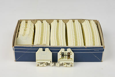 10x Telemecanique Schneider Terminal Block AB1VV435U Clamp White Made In Germany
