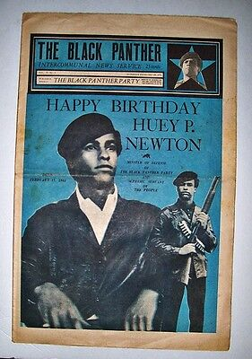 Black Panther Party Newspaper 2/20/1971 Panthers Huey Newton Bobby Seale B-Day