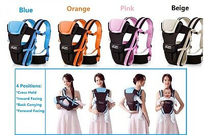 4 Colours Available-Brand New Breathable Ergonomic Baby Carrier 4 Positions
