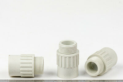 Conduit Adapter Plain to Screwed NYLON SUPER STRONG 20mm Screwed Fitting