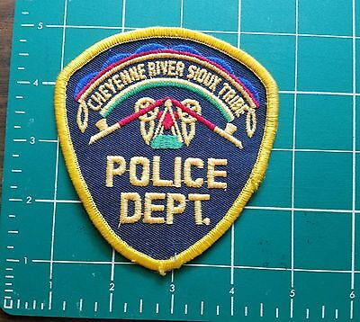 Cheyenne River Sioux Indian Native American Tribe Original Tribal Police Patch