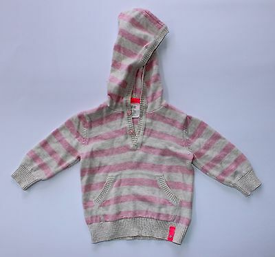 Baby Girls Striped Cardigan by H&M Size 00 (3-6mths) Jacket Hood Clothing