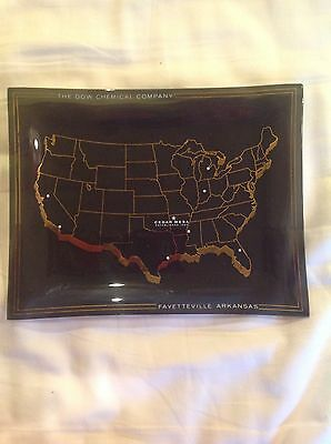 Fayetteville Arkansas Dow Chemical Company 1962 Display Tray NICE 7 X 9