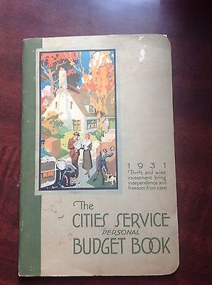 The Cities Service Personal Handbook 1931  With Letter Unused 62 Pages