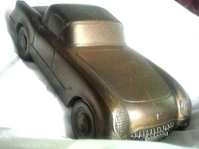Vintage Cast Metal Rolling 1953 CORVETTE BANK by Banthrico dated 1974. SYCAMORE