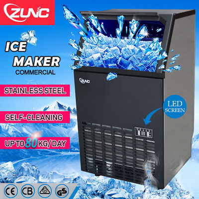 Commercial ICE Cube Maker Machine for Home Business Fast Easy Auto 65KG/Day