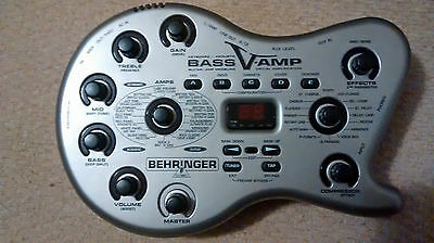 Behringer Bass V amp fx cabinet modeling and effects programs UNUSED