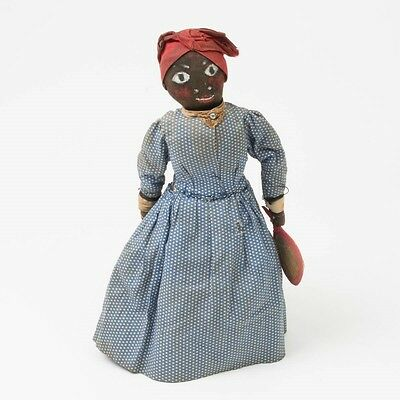 Antique Black Americana African American Folk Art Doll by Jefferson Davis Weir