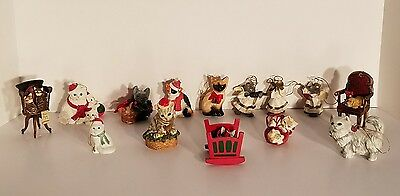 Christmas Cat And Mouse Tree Ornaments