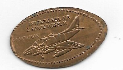 Intrepid Air & Space Museum A4 Skyhawk Elongated Penny Coin