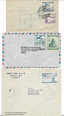 Chile - 3 covers from the 1960's