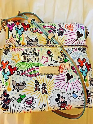 NEW Disney Dooney & Bourke Sketch Letter Carrier Crossbody Bag