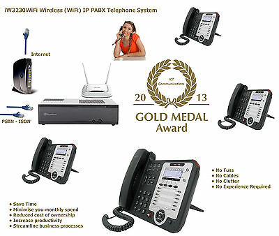 iW3230WiFi Wireless Starter Kit SIP VoIP ISDN BRI PRI PABX PBX Telephone System