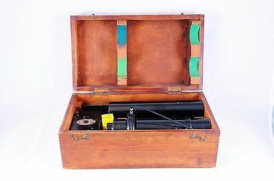 Camera Scientific Microscope Lucas Photomicrographic circa 1927 w/ wood box Lens