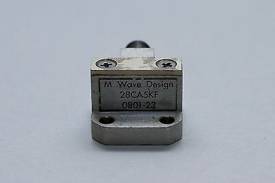 M Wave Design, 28CA5KF, Waveguide to Coax Adapter, WR28 to K connector (female)
