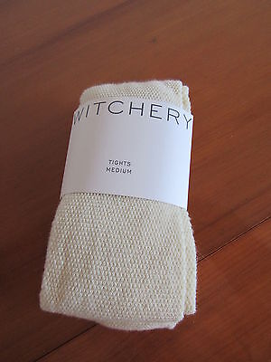 Witchery Girls Size 7-9 Natural Waffle Winter Tights