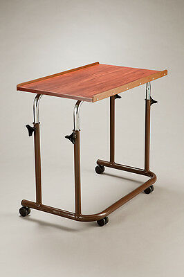 Care Quip Overchair Table Lightweight mobile Adjustable height and angle Woodgra