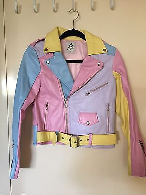 UNIF Pastel Moto Jacket. Very Rare. Brand New