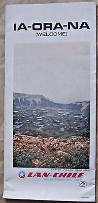 Chile Road Map Easter Island Isla de Pascua Lan Chile Airlines