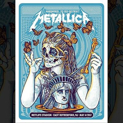 Metallica Spit Out The Bone Poster/Print East Rutherford 5-14-17 Screenprinted