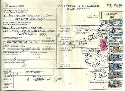 Italy - Bulletin D'expedition - Sorrento 1973