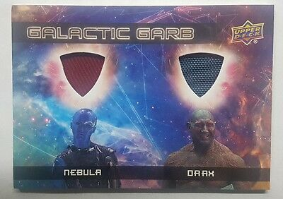 2017 UD Guardians of the Galaxy Vol 2 Galactic Garb Dual Relic Nebula/Drax
