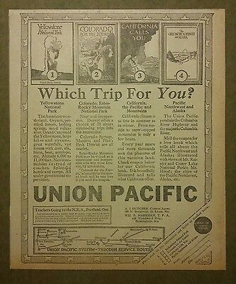 1917 Union Pacific System Railroad Ad