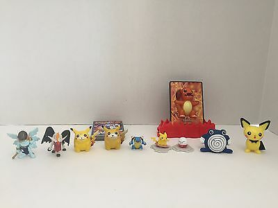 Mixed Lot Of Pokemon Digimon Toys Figures Cards
