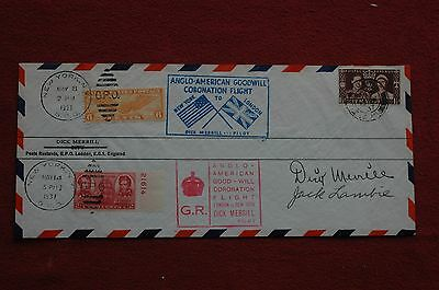 Stamps - Anglo-American Coronation Cover