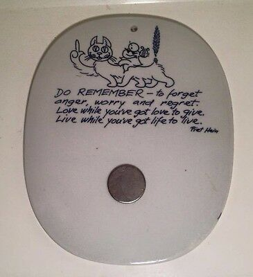 Royal Copenhagen Denmark by Piet Hein ceramic cat  memo board 1954