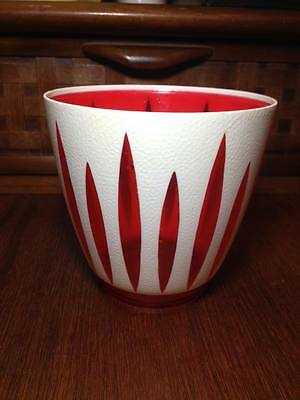 1950s modern  Dialene better maid red and white plastic planter Made in the UK