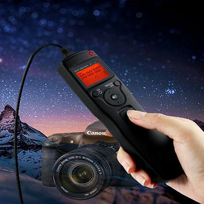 Camera Shutter Release Cable LCD Timer Remote Control f. Sony A7R A7 A6000 A3000