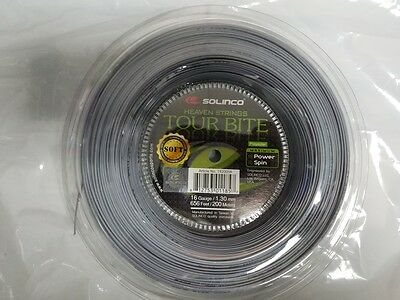 Solinco Tour Bite Soft 16g 16 Gauge 1.30mm 656' 200m Tennis String