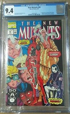 NEW MUTANTS #98 CGC 9.4 1st DEADPOOL WHITE PAGES NEW CASE ROB LIEFELD