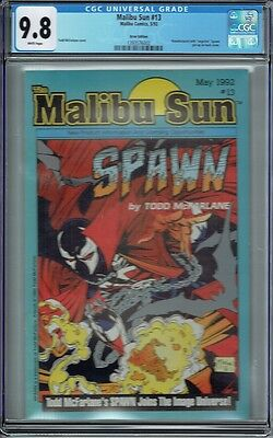 Cgc 9.8 Malibu Sun #13 Scarce Error Variant 1 Of A Kind 1St Appearance Of Spawn