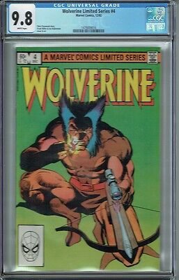 Cgc 9.8 Wolverine Limited Series #4 White Pages 1982 Frank Miller Cover And Art
