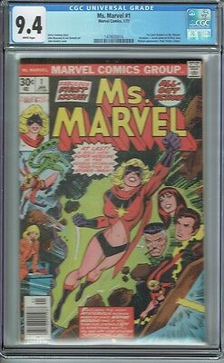 Cgc 9.4 Ms. Marvel #1 White Pages Carol Danvers 1St Appearance As Ms Marvel 1977