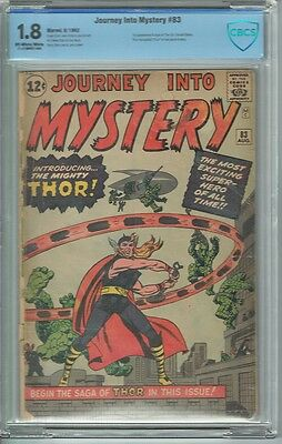 Cbcs 1.8 Journey Into Mystery #83 O/w W Pages 1St Appearance Of Thor Avengers