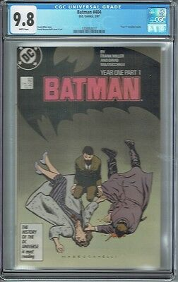 Cgc 9.8 Batman #404 White Pages 1St Appearance Modern Catwoman Frank Miller
