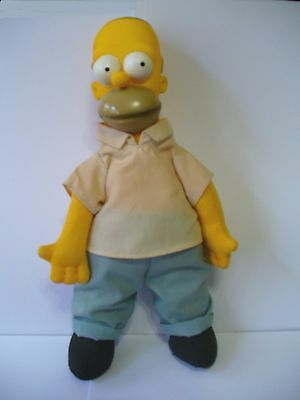 "Vintage 1990 HOMER SIMPSON Doll - 11"" Tall - Good Condition"